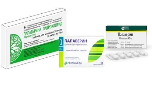 Застосування препарату Папаверин при циститі